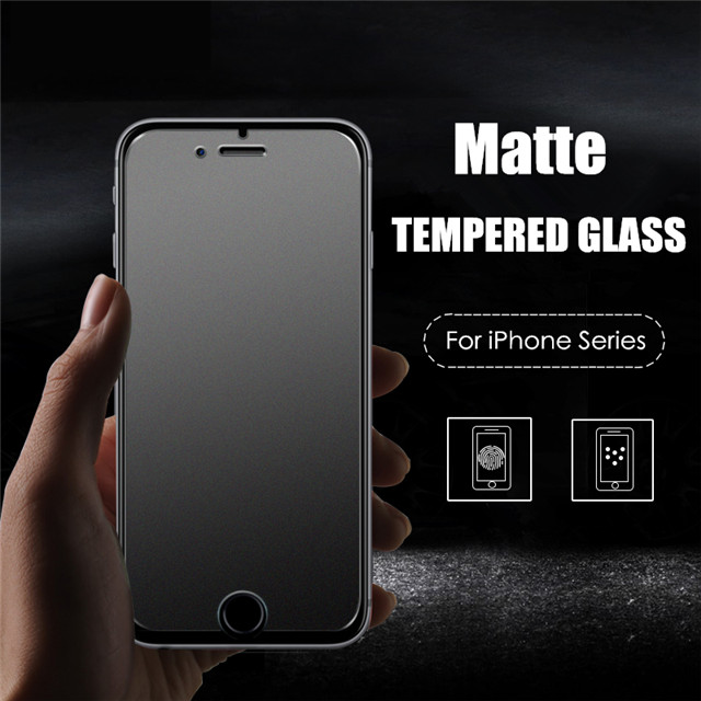 Matte Tempered Glass Screen Protector 9H Anti Fingerprint Proof Anti-shatter Film For iPhone 11 Pro X Xr Xs Max 8 7 6S Plus