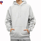Wholesale high quality mens eco friendly fabric 52% polyester and 48% cotton plain causal hoodie