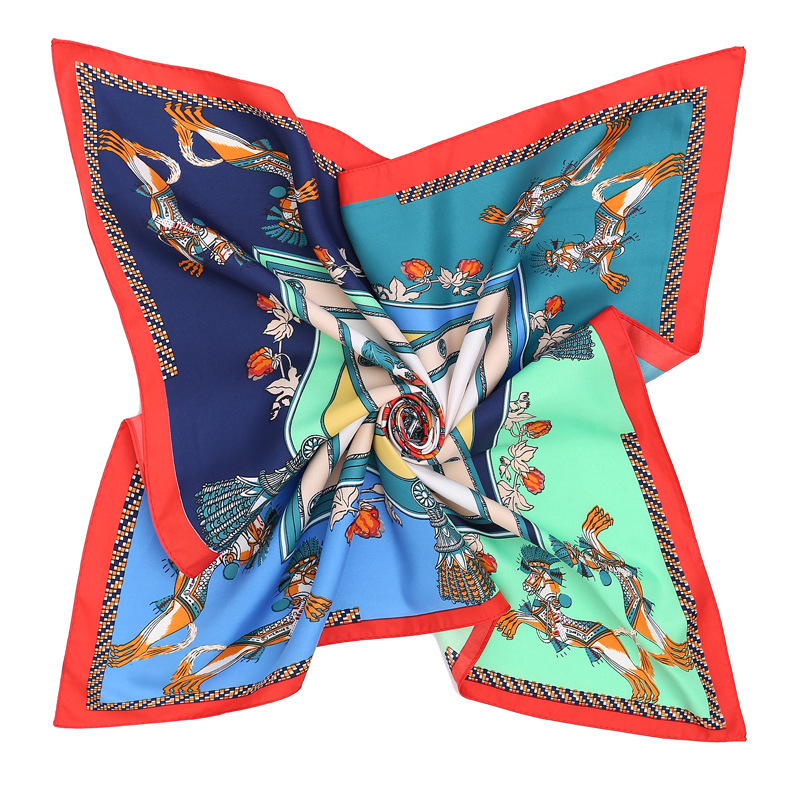 Hot-selling explosive twill silk 70 cm Spring Horse scarf lady decorated small scarf bundled small scarf