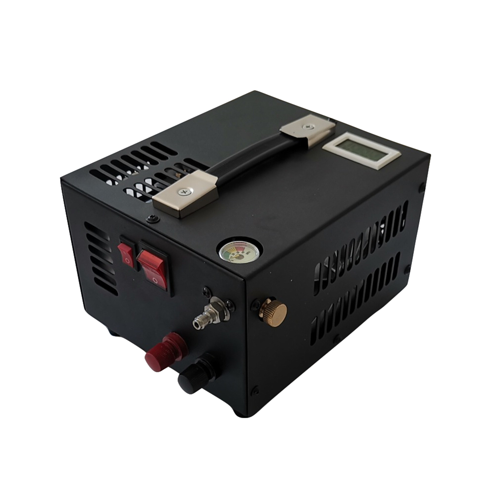 300bar Portable 12V DC Electric Mini Pcp Air Compressor 4500psi with power converter and moisture filter