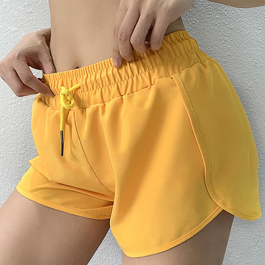 กีฬาผู้หญิงกีฬาสำหรับออกกำลังกายโยคะ Push Up กางเกงขาสั้นผู้หญิง