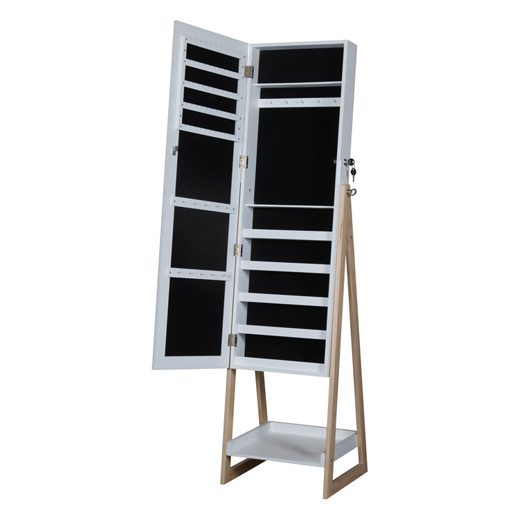 Hot Sale Modern Display Tall Wooden Jewelry Cabinet
