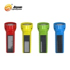 wholesale hand held led torch light solar flashlight rechargeable for emergency lighting