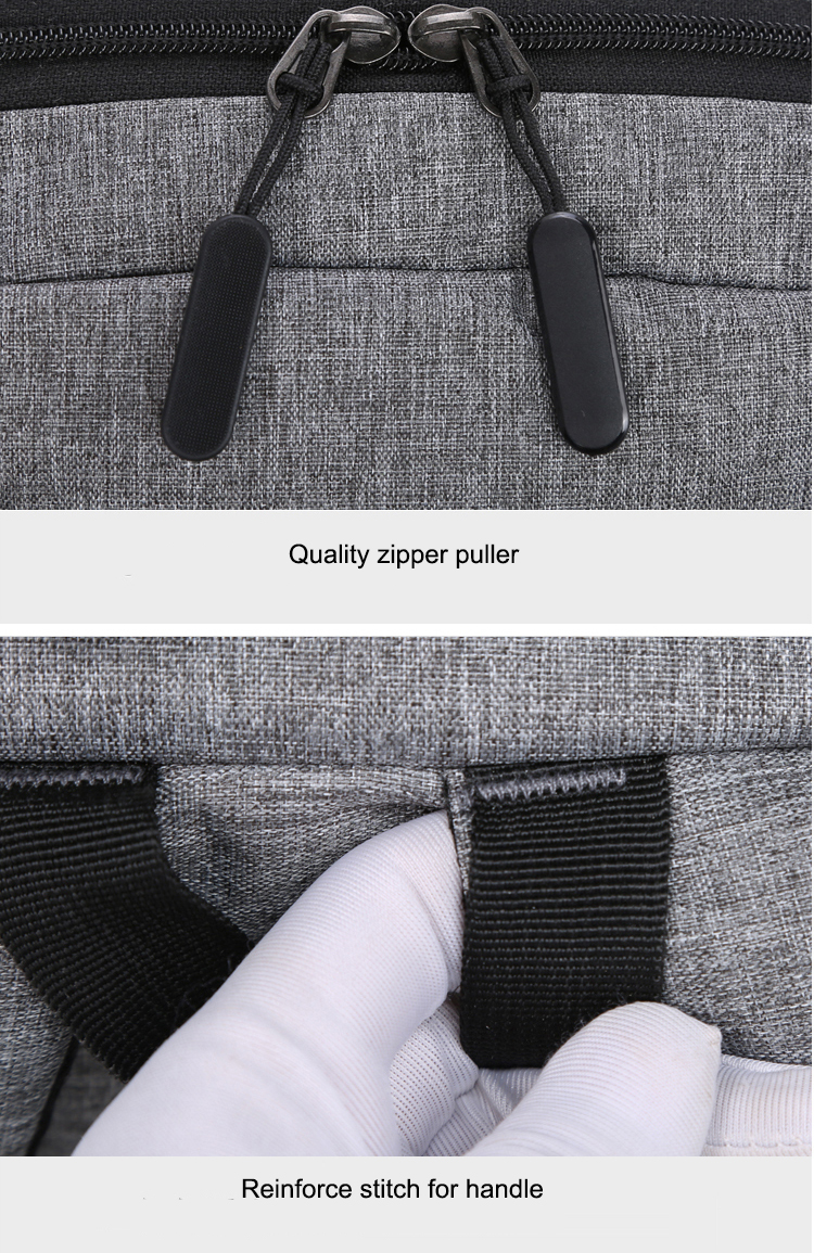 Men Women Wholesale 2 Layers Pocket Leisure 15.6 inch Laptop Business USB Backpack Bag