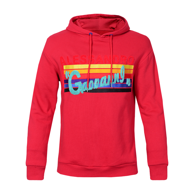 Wholesale Mens High Quality Pullover Hoodies 100% Cotton Sport Hooded Sweatshirt