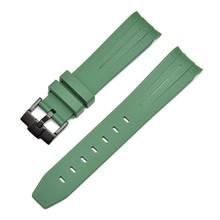 Ремешок для часов 20 мм из натурального каучука, силиконовый ремешок для часов 21 мм, ремешок с пряжкой, ремешок для ушей, сменный ремешок для ч...(Китай)