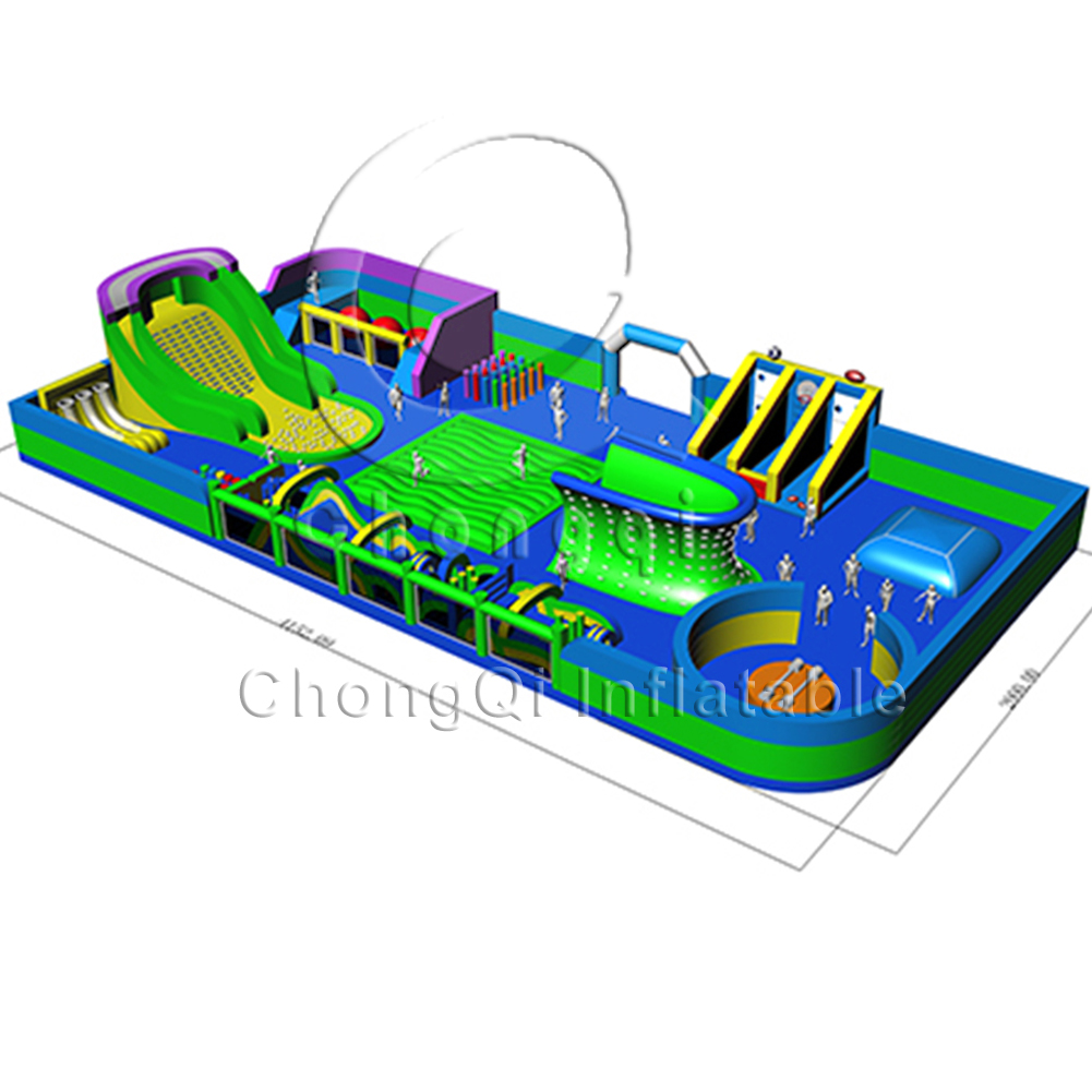 China factory custom inflatable theme park/ outdoor indoor inflatable game park for adult  kids play park