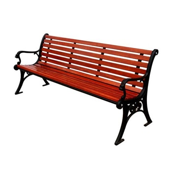 Arlau New solid wood red bench outdoor patio garden wood bench