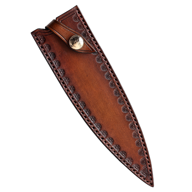 High-end quality kitchen chef knife leather sheath