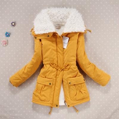 Nuovo 2019 Cappotto di Inverno Delle Donne Sottile Più Il Formato Outwear A Medio-Lungo Wadded Giacca Spessa Con Cappuccio In Cotone Imbottito di Cotone Caldo parka