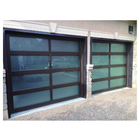 Topwindow China Manufacturer Roll Up Industrial Full View Glass Panel Electric Insulated Automatic Garage Door Plastic