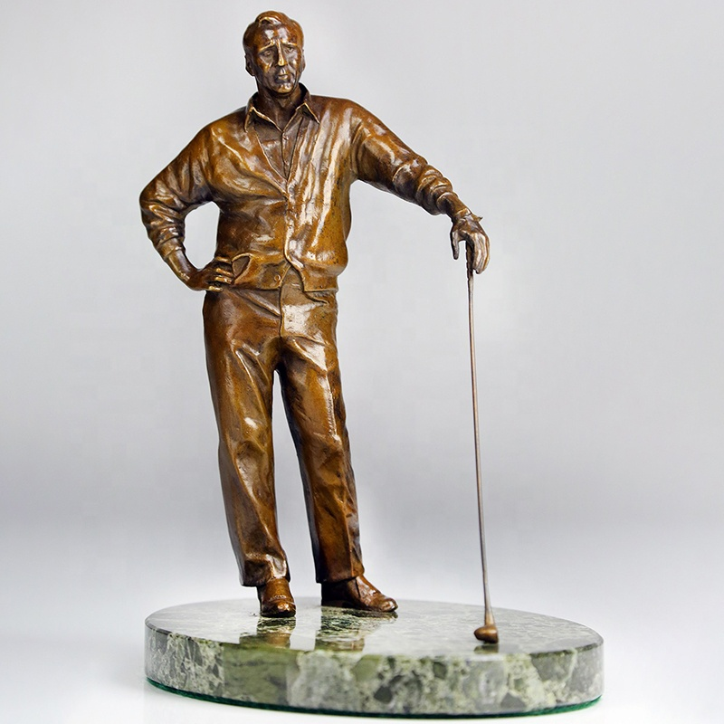 Antique Outdoor Garden Decor Br Golfer Playing Golf Statue Statues Large Product On Alibaba