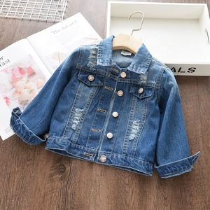 Baby girls denim jacket for children coat kids jeans jacket plain solid casual kids clothes boutiques 19716644