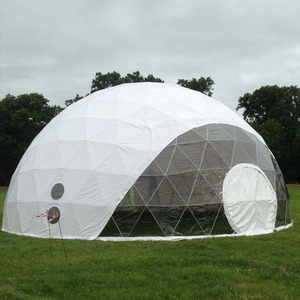 Customized 15m diameter transparent geodesic dome tent sports events geodesic tent for sale