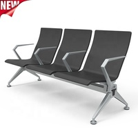Hospital waiting room chair airport waiting chairs 3 seater with USB charging device
