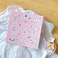 1 шт. милые наклейки в виде смайликов и букв для журналов, простые декоративные наклейки в Корейском стиле Ins для самостоятельного изготовле...(Китай)