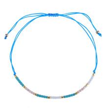 Женский и мужской браслет в богемном стиле с кристаллами и бусинами, регулируемый плетеный браслет на цепочке, браслеты ручной работы, ювел...(Китай)