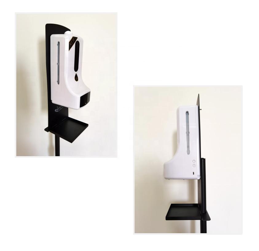 Wall mounted hand temperature measurement K9 thermometer sensor liquid soap dispenser
