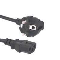 High quality and competitive price 3 pin pc cable eu power cord , PVC power cords for computer