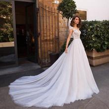 Свадебное платье es 2020 с v-образным вырезом и кружевной аппликацией, сексуальное богемное свадебное платье с открытой спиной размера плюс св...(Китай)