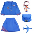 Halloween career party costumes Air Hostess costume cosplay Flight Attendant uniform suits