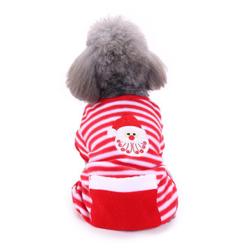 Wholesale New Year Holiday Warm Designer Pet Christmas decoration dog Clothes