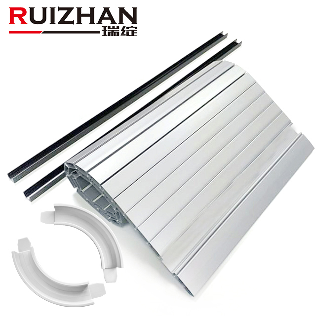 Shanghai direct factory customized size kitchen cabinet rolling slats grey plastic tambour door roller shutter for RV