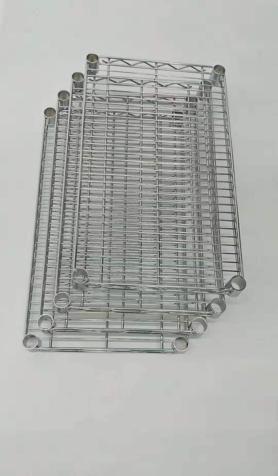 4-Tier Adjustable Steel Shelves Heavy Duty Shelf Wire Shelving