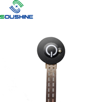 Factory customized Single Keypad Membrane Tactile Push Button Switch With Custom Foil Cable