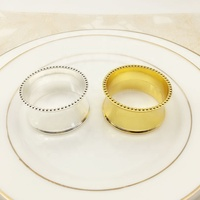 High Quality Gold Round Napkin Ring Bling Christmas Silver Gloden Dinner Napkin Rings for Wedding