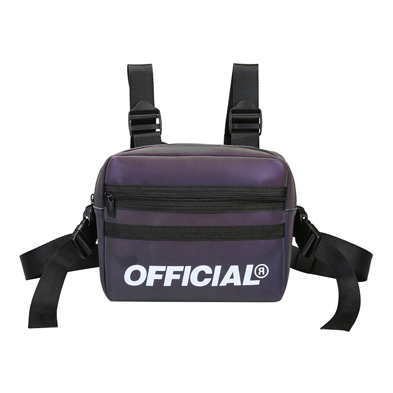 Osgoodway2 Trendy vest reflective colorful functional tactical sling bags cross front chest bag