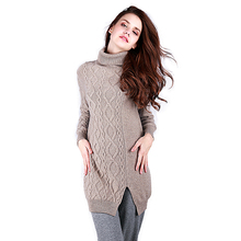 Grey Begei Turtleneck Cashmere Sweater Designs Ladies Pullover Sweater Mujer