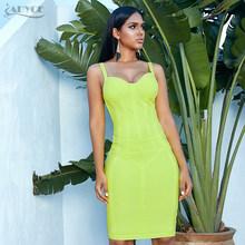 Женское бандажное платье средней длины ADYCE, желтое облегающее платье на бретелях без рукавов, в стиле звезд, для клуба и вечеринки, для лета, ...(Китай)