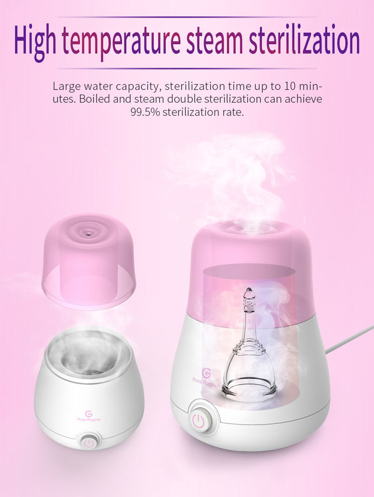 Hot Sale Sterilizer Menstrual Cup Hot Steam Cleaning Case