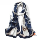 100% Silk Scarves Fashion Luxury Women Long Silk Scarf Check Pattern Silk Chiffon All Season 180*65cm