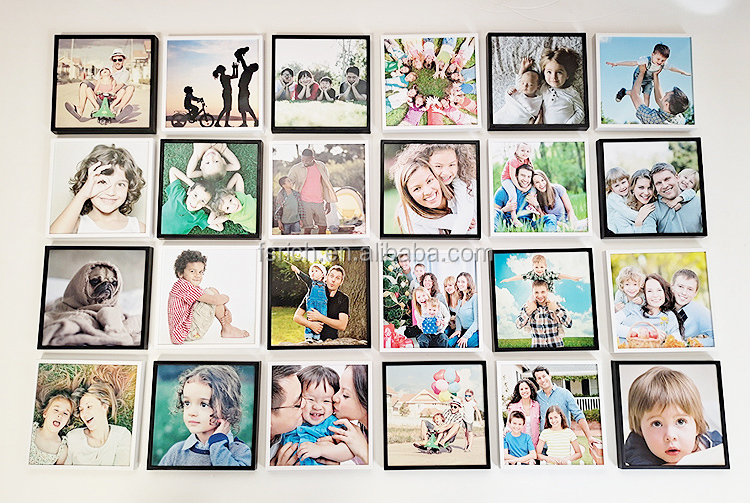 Wholesale DTY Creative Office Fotos Light Mixtiles Frame Plastic Self Adhesive Sticky Restickable Photo Frame for Wall Decor