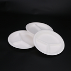 Wholesale Chinese Restaurant 3 Compartment sugarcane bagasse Dinner Plate