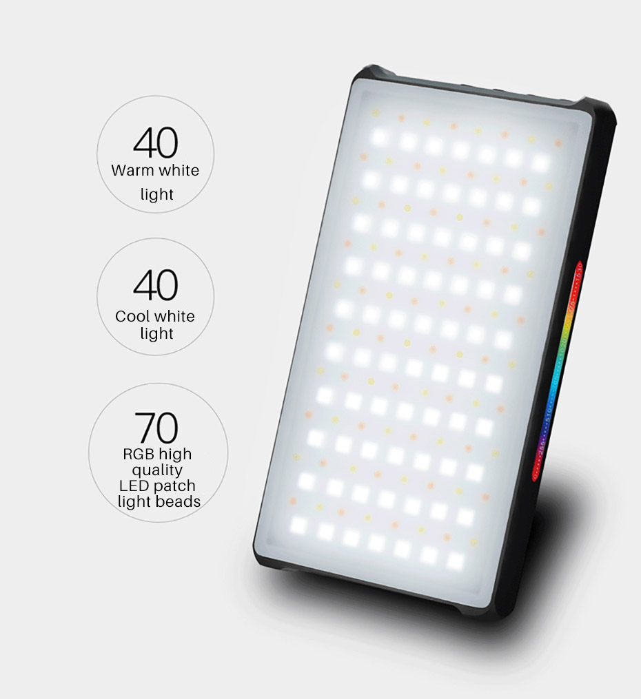 YONGNUO YN365 RGB LED Video Light Portable On-Camera Light 2500k-8500k RGB Full Color 3300mAh Photography Light