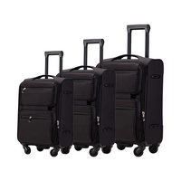 High quality softside nylon suitcase bag soft travel luggage set