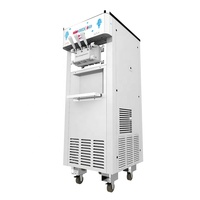 Oceanpower Soft Ice Cream Making Machines cheap with Pre-cooling and Pump Feed (Option) maquina de helados