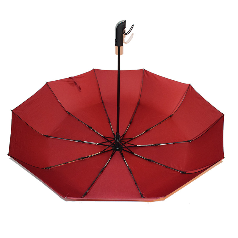 23 inch 10  Ribs 3 fold Wind Resistant best selling Automatic Rain travel Umbrella