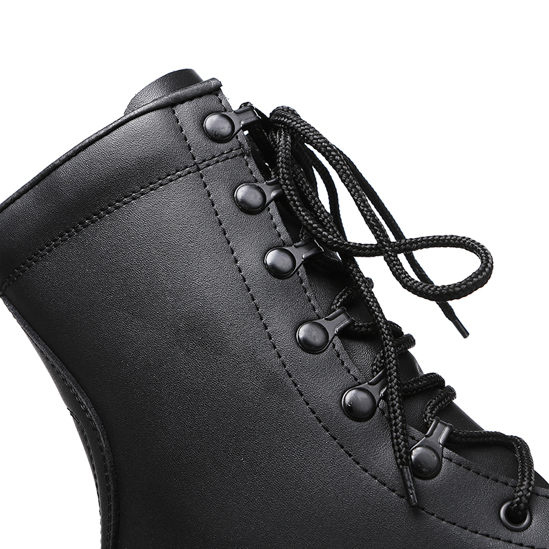 China Xinxing army vulcanization full leather boots army black military tactical boots moulding for army MB027