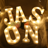 Supplies Christmas Holiday Festival Event Decorations Battery Alphabet Birthday Party ornaments Lighting LED Marquee Letter