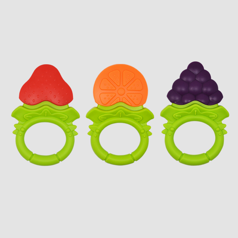 Silikon Beiß ringe Obst Traube Baby Beißring Gummi Kauen Charms Baby Zahnen Geschenk Kleinkind Spielzeug