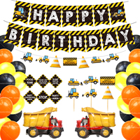 Construction Birthday Party Supplies Dump Truck Party Decorations Kits Set for Kids Birthday Party
