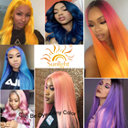Super Good Quality Sunlight peruvian hair dubai straight 99J Brazilian virgin hair human hair wig Silk lace frontal straight