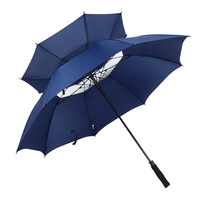 promotional advertising 30'' auto open double layer windproof golf umbrella