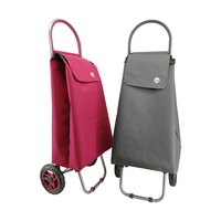 2020 Cheap folding small shopping carts with wheels supermarket bag
