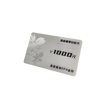2020 Guangzhou factory custom clear credit card business card ID white blank plastic pvc cards