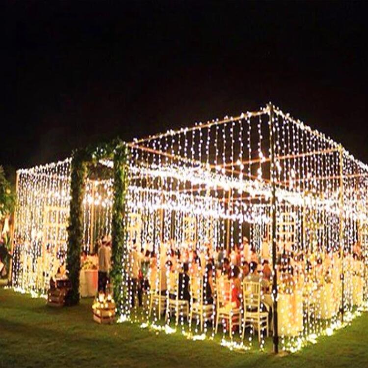 Outdoor Christmas Safety fairy Led Curtain String Light